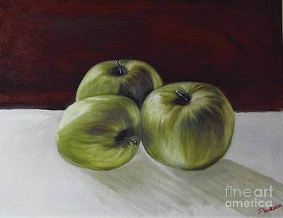 Painting - Apples by Isabel Honkonen