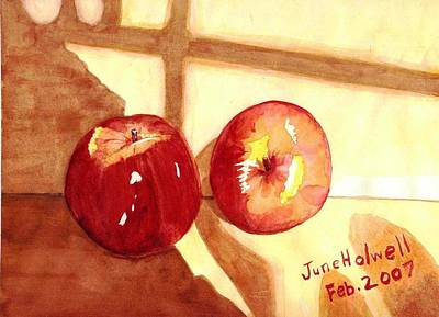 Apples Art Print by June Holwell