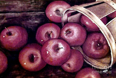 Painting - Apples  by Karen Wheeler