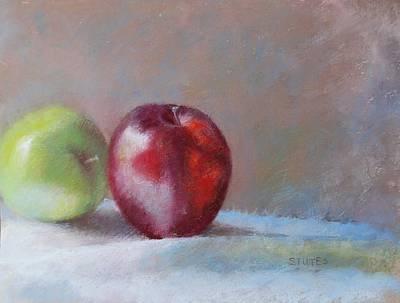 Apples Art Print by Nancy Stutes