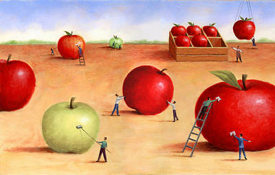 Multicultural Painting - Apples by Steve Dininno