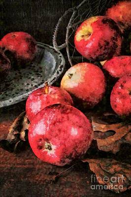 Apples Still Life Cezanne Style Art Print