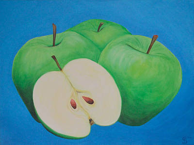Fruehling Painting - Apples by Sven Fischer