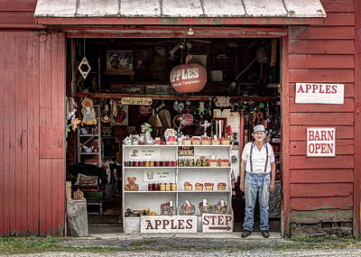Old Barn Photograph - Apples. The Natural Temptation - Farmer And Old Farm Signs by Gary Heller