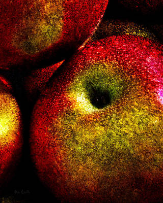 Hand Painted Photograph - Apples Two by Bob Orsillo