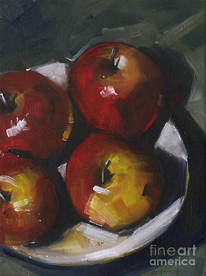 Still Life Painting - Appleshine by Mary Hubley