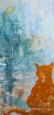 Painting - Appleskin Cat by Susan Fisher