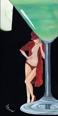 Apple Martini Painting - Appletini by Debi Bond