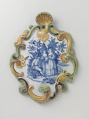 Applique Painting - Applique, Multicolor Painted With A Landscape With Figures by Quint Lox