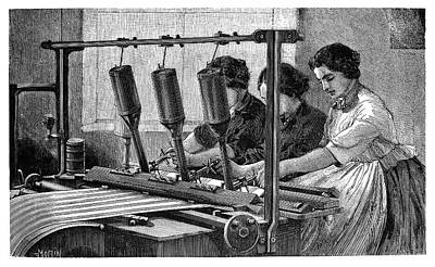 Mechanization Photograph - Applying Fabric Patterns by Science Photo Library