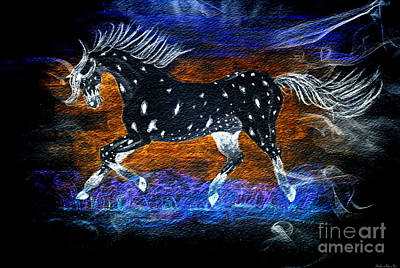 Photograph - Appoloosa Night Runner by Debbie Portwood
