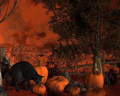 Digital Art - Approaching Halloween by Approaching Halloween