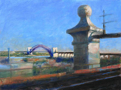 Approaching Hell Gate Bridge By Rail Art Print