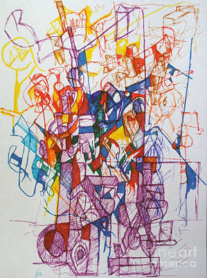 Creativity Drawing - Devaikus 2 by David Baruch Wolk