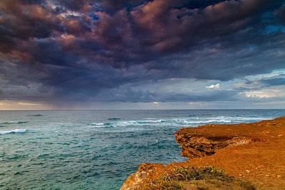 Mahaulepu Beach Photograph - Approaching Rain   by Roger Mullenhour