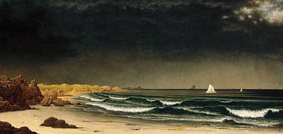 Approaching Storm. Beach Near Newport Art Print