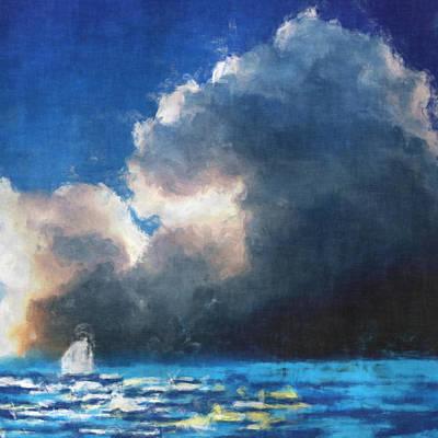 Boating Digital Art - Approaching Storm by David G Paul