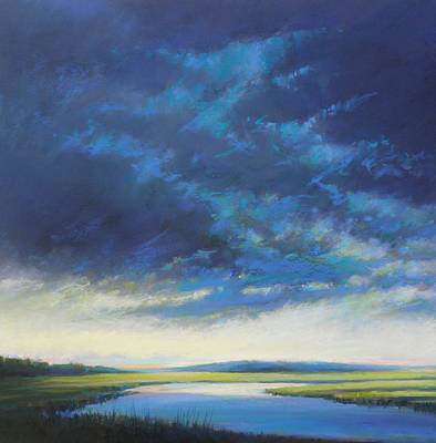 East Sandwich Painting - Approaching Storm by Ed Chesnovitch