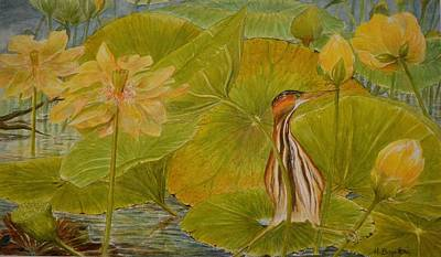 Lily Pads Painting - Approaching Storm by Hannah Boynton