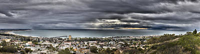 Approaching Storm Hdr Panorama  Print by Joe  Palermo