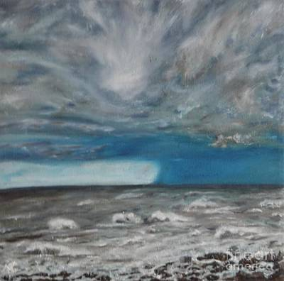 Waterscape Painting - Approaching Storm - Hurricane by Nicla Rossini