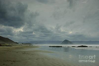 Approaching Storm - Morro Rock Art Print