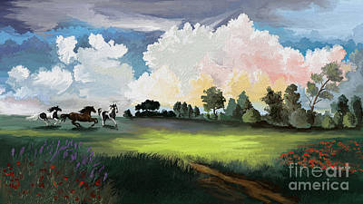 Landscape Painting - Approaching Storm by Sandra Aguirre