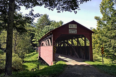 Photograph - Approaching The Buckhorn Covered Bridge From The Far Side by Gene Walls