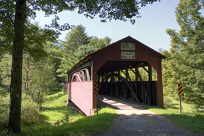 Photograph - Approaching The Buckhorn Covered Bridge by Gene Walls