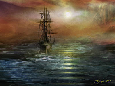 Approaching The New World Art Print