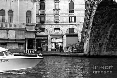 Photograph - Approaching The Rialto Bridge by John Rizzuto