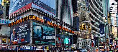 Photograph - approaching Times Square by New York