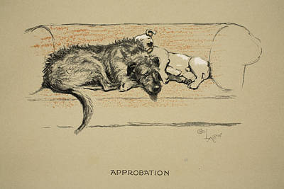 Approbation, 1930, 1st Edition Art Print by Cecil Charles Windsor Aldin