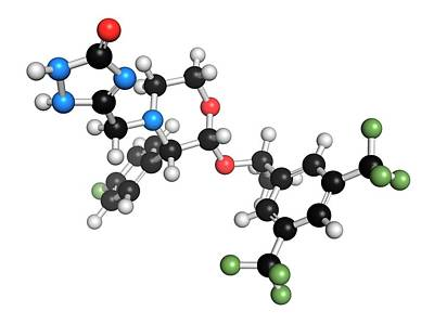 Aprepitant Antiemetic Drug Molecule Art Print