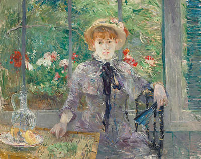 Grey Dress Painting - Apres Le Dejeuner by Berthe Morisot