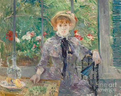 Balck Painting - Apres Le Dejeuner by Berthe Morisot