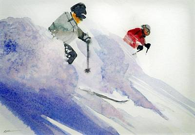 Painting - Apres Ski by Ed  Heaton