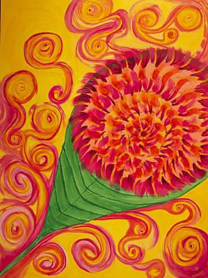 Apricot Basil Original by Phoenix The Moody Artist