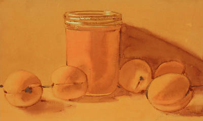 Painting - Apricot Preserves by Joe Schneider