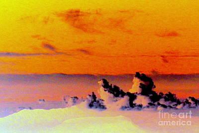 Apricot Sky Art Print