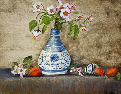 Apricot Still Life Ll Art Print by Kristie Zweig Christensen