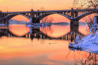 Susquehanna River Photograph - Apricot Susquehanna  by JC Findley