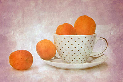 Photograph - Apricots In A Cup by Angela Bruno