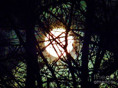 April 3 Am Moon Art Print by Judy Via-Wolff