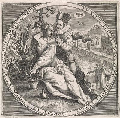 April Loving Couple, Anonymous, Crispijn Van De Passe Art Print
