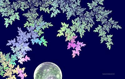 Digital Art - April Moon by Naomi Richmond