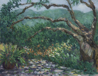 Painting - April Morning At Fairfax Fresh Farms by Dena Cornett