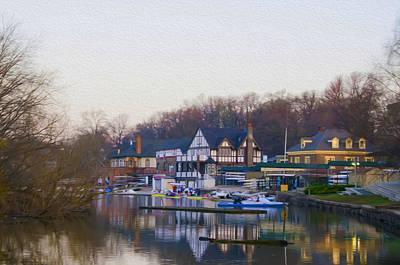 April Morning On Boathouse Row Art Print
