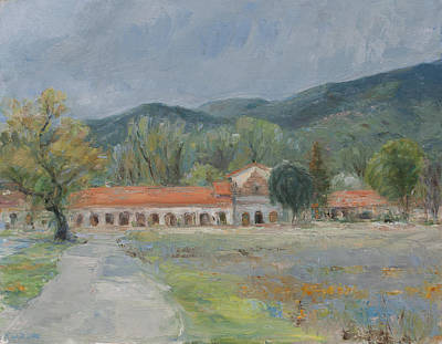 Military Base Painting - April Rain In The Valley Of The Oaks by Theresa Grillo Laird