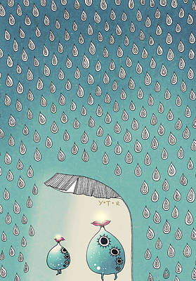Figure Mixed Media - April Shower by Yoyo Zhao